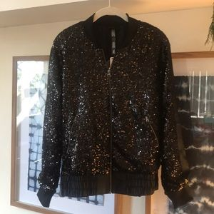 NWT Victoria's Secret sequin bomber jacket